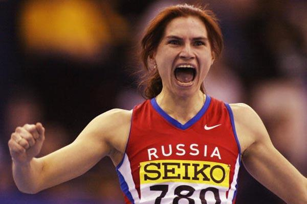 Natalya Nazarova (RUS) celebrates winning the women's 400m (Getty Images)
