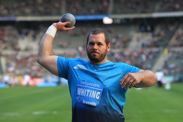 Ryan Whiting at the 2013 IAAF Diamond League final in Brussels (Jean-Pierre Durand / IAAF )