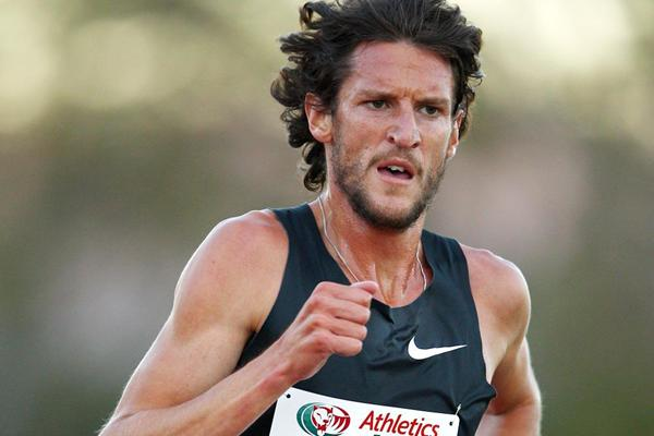 Collis Birmingham en route to 5000m victory at the Briggs Classic (Getty Images)
