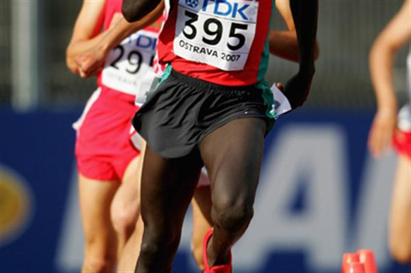 Geoffrey Kibet of Kenya in action in the 800m heat (Getty Images)