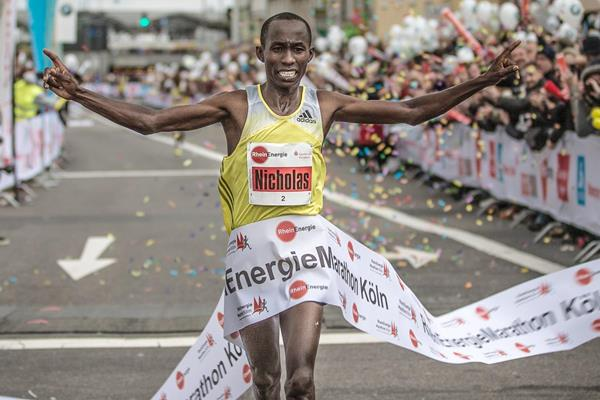 Nicholas Chelimo, winner of the 2013 Cologne Marathon (Organisers)