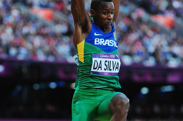 Mauro Vinicius Da Silva of Brazil competes in the Men's Long Jump Final on Day 8 of the London 2012 Olympic Games at Olympic Stadium on August 4, 2012 (Getty Images)