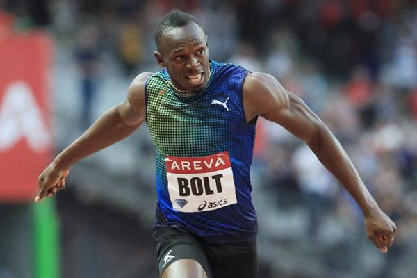 Usain Bolt wins the 200m at the 2013 IAAF Diamond League in Paris (Jean-Pierre Durand)