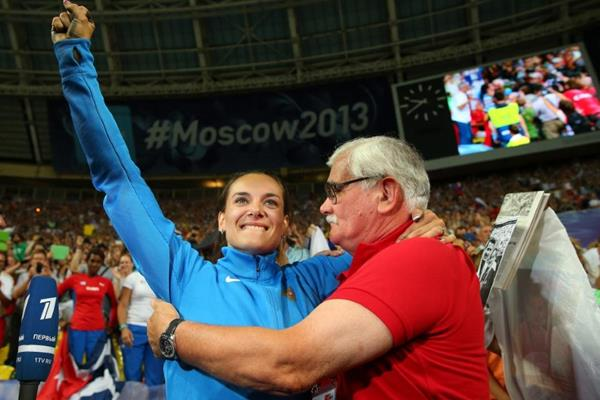 Elena Isinbaeva at the IAAF World Championships Moscow 2013 (Getty Images)