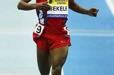 Kenenisa Bekele wins the 5000m in Birmingham in a World indoor record (Getty Images)