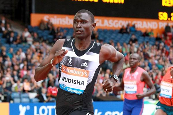 David Rudisha winning the 800m at the 2014 IAAF Diamond League meeting in Glasgow (Victah Sailer)