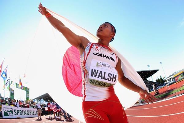 Japanese 4x400m runner Julian Jrummi Walsh at the IAAF World Junior Championships, Oregon 2014 (Getty Images)