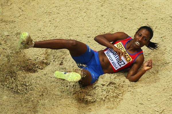 Yarianna Martinez in triple jump qualifying at the 2014 IAAF World Indoor Championships in Sopot (Getty Images)