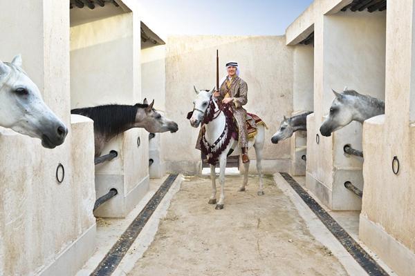 Andreas Thorkildsen at Al Shaqab ahead of the 2013 IAAF Diamond League meeting in Doha (organisers)