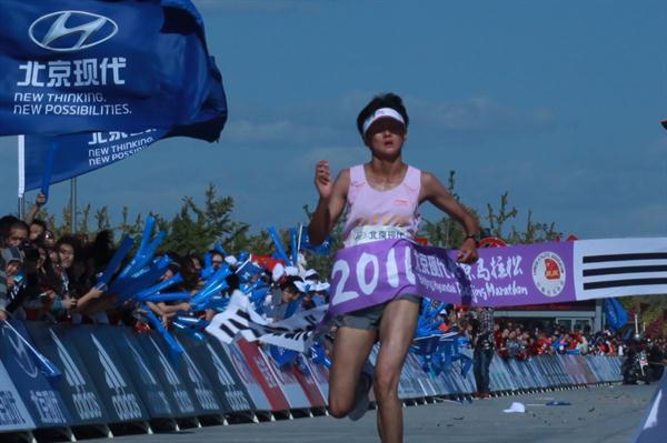Wei Xiaojie takes a surprise victory in Beijing (Beijing Marathon organisers)