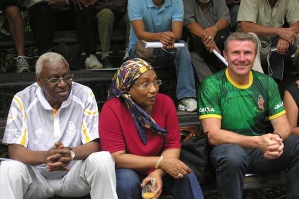 President Diack, Mme Diack, Vice-President Bubka at the Athletics in the Jungle (Nick Davies)