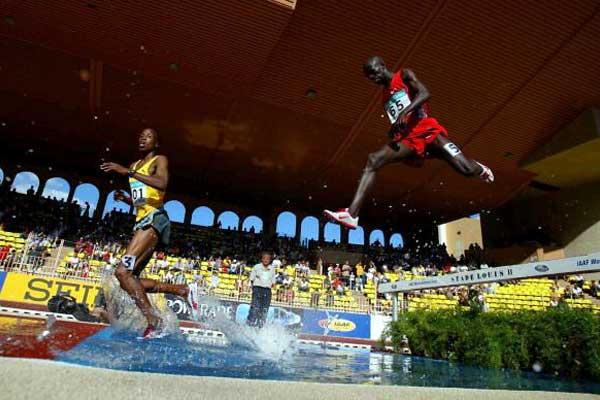 Saif Saaeed Shaheen in action in Monaco, in the 5th quickest steeplcahse in history (Getty Images)