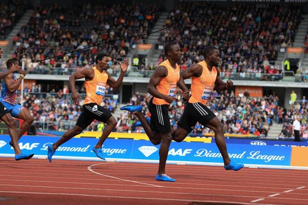 The men's 200m at the 2014 IAAF Diamond League meeting in Birmingham (Jean-Pierre Durand)
