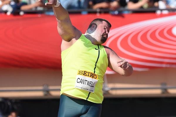 Christian Cantwell, winner of the shot in Tokyo (Getty Images)