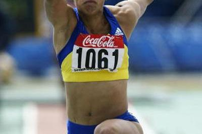 Cristine Spataru of Romania winning the Triple Jump (Getty Images)