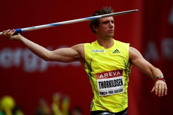 Andreas Thorkildsen throws 88.03m to win the javelin in Paris (Getty Images)