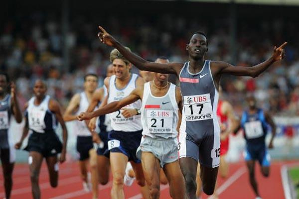 Youssef Saad Kamel of Bahrain sets a new World leading time to win the B 800m race in Zurich Golden League (Getty Images)