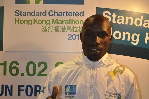 David Barmasai at the pre-race press conference for the 2014 Standard Chartered Hong Kong Marathon (Organisers)