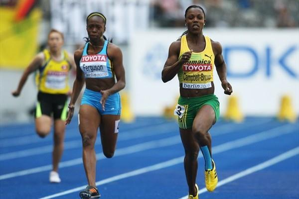 Veronica Campbell-Brown of Jamaica in the 2009 Berlin World Champs in the women's 100m (Getty Images)