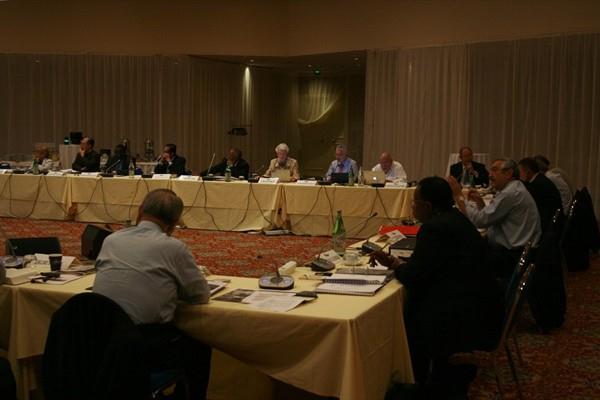 Members of the IAAF Council meeting in Monaco (Bob Ramsak)