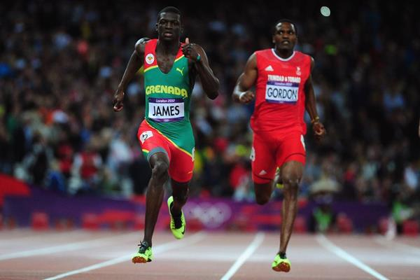 Kirani James of Grenada leads the field to win the Men's 400m final on Day 10 of the London 2012 Olympic Games at the Olympic Stadium on August 6, 2012 (Getty Images)