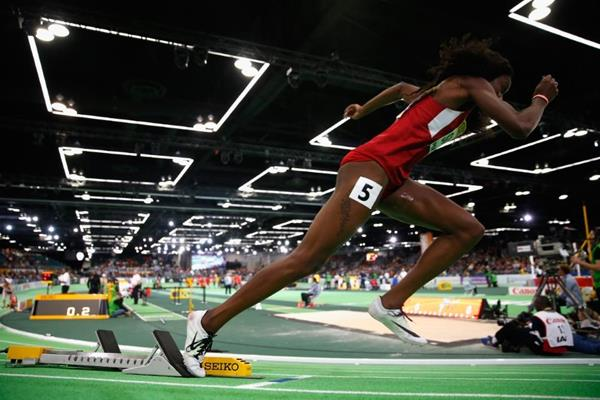 Ashley Spencer at the IAAF World Indoor Championships Portland 2016 (Getty Images)