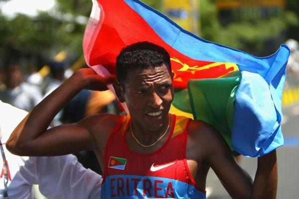 Individual winner Zersenay Tadese led Eritrea to silver in the team event (Getty Images)