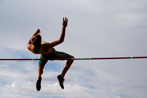 Cedric Dubler in the decathlon high jump at the 2014 IAAF World Junior Championships in Eugene (Getty Images)