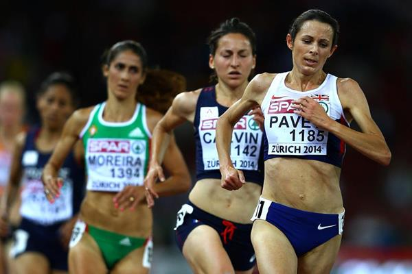 Jo Pavey on her way to winning the European 10,000m title in Zurich (Getty Images)