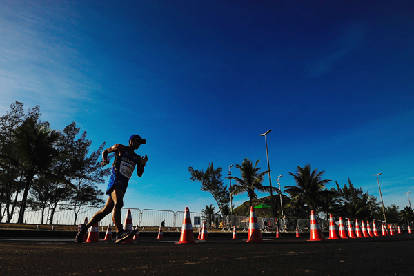 Colombia's Marlon Flores in the 50km at the Brazil Race Walk Cup in Rio (Getty Images)