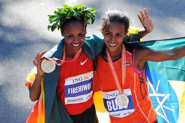 Firehiwot Dado and Buzunesh Deba, 1-2 in New York (Getty Images)