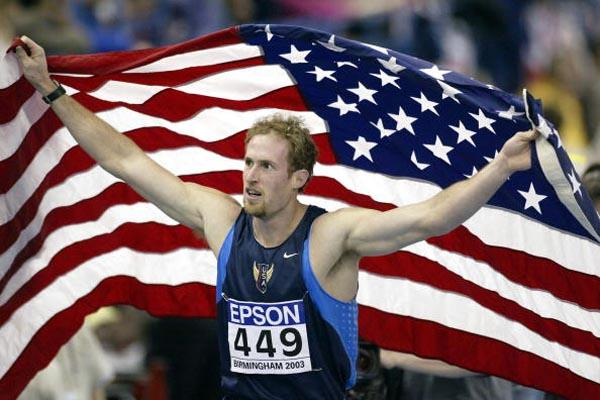 Tom Pappas celebrates winning the men's heptathlon (Getty Images)