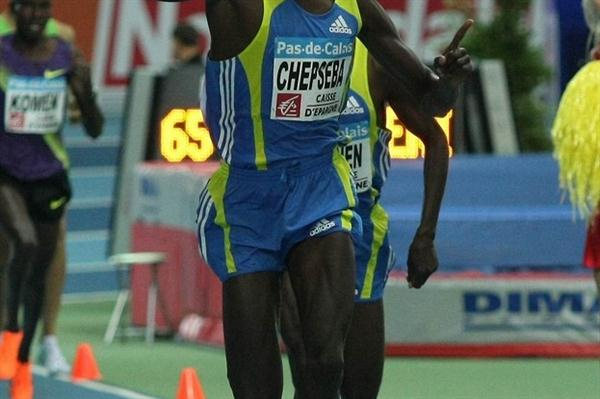 Nixon Chepseba takes the 1500m in Lievin (Thierry Plouy)