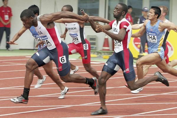 The US 4x100m team (Getty Images)