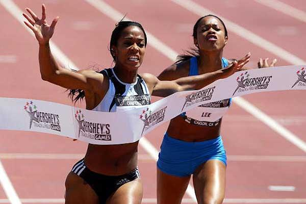 MeLisa Barber - women's 100m winner at USATF (Getty Images)