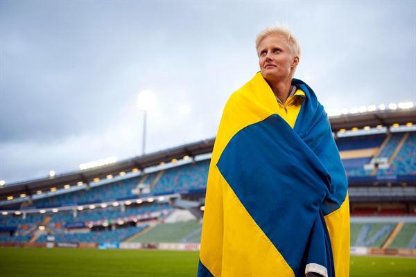 Carolina Klüft in Gothenburg after the final meet of her career (Anders Sjogren / DECA Text&Bild)