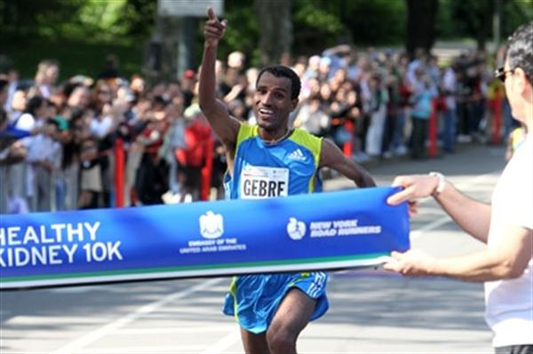27:42 Central Park 10Km record for Gebre Gebremariam in New York (Victah Sailer)