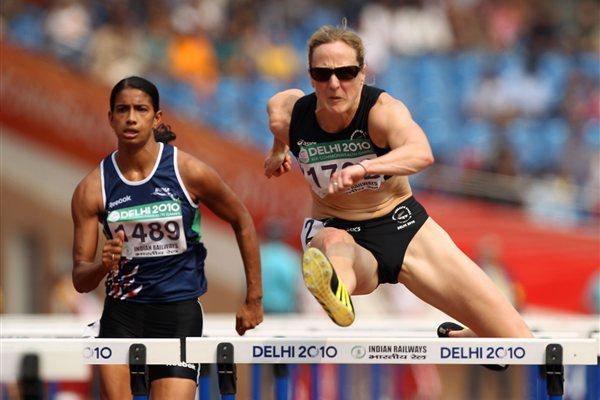 Rebecca Wardell at the 2010 Commonwealth Games in New Delhi (Getty Images)