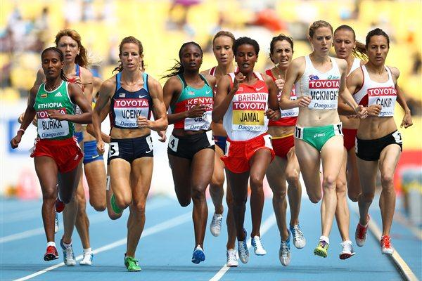 Defending champion Maryam Jamal led all qualifiers in the opening round of the 1500m (Getty Images)