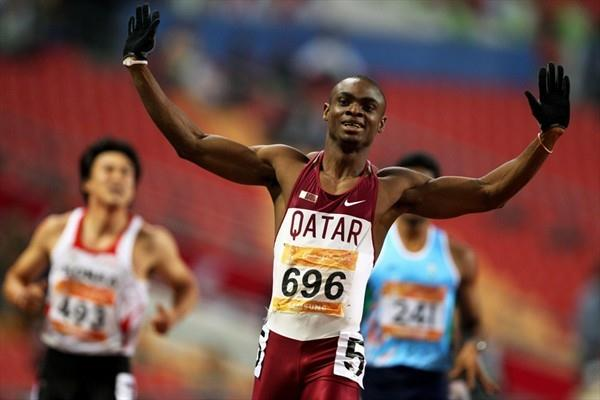 Femi Ogunode takes the 200m to add to his 400m crown at the Asian Games (Getty Images)