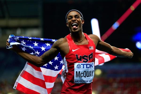 Tony McQuay in the mens 400m Final at the IAAF World Athletics Championships Moscow 2013 (Getty Images)