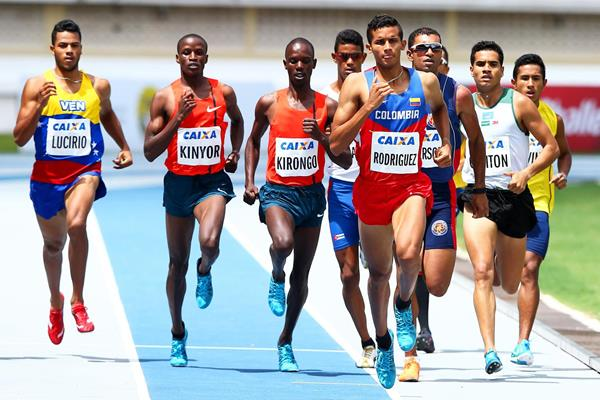 Rafith Rodriguez on his way to winning the 800m in Belem (Wagner Carmo/CBAt)