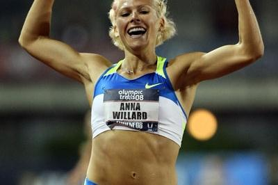 Anna Willard after her U.S. record in the Steeplechase in Eugene (Getty Images)