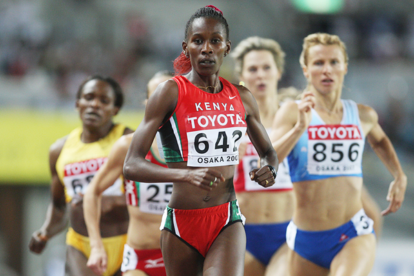 Janeth Jepkosgei in action in the 800m (Getty Images)