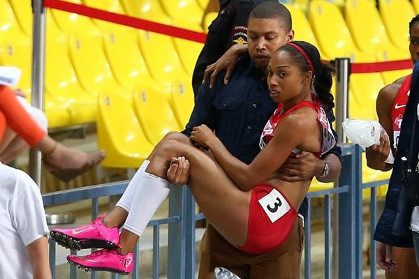 Allyson Felix in the womens 200m Final at the IAAF World Athletics Championships Moscow 2013 (Getty Images)