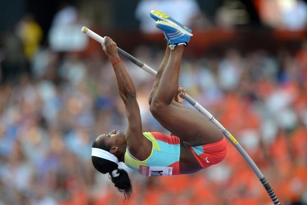 Yarisley Silva at the 2013 IAAF Diamond League in London (Kirby Lee)