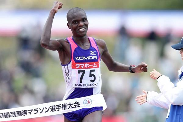 Josphat Ndambiri wins in Fukuoka on his marathon debut (Takefumi Tsutsui - AgenceSHOT)