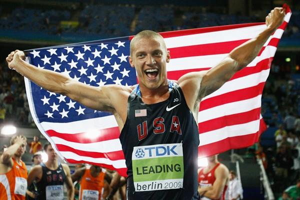Trey Hardee of the United States celebrates winning the gold medal in the men's Decathlon at the 12th IAAF World Championships in Athletics (Getty Images)