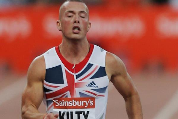 Richard Kilty in action at the IAAF Diamond League meeting in London (Getty Images)
