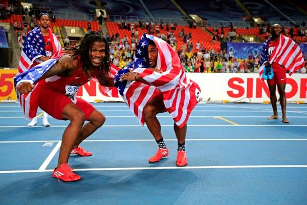 Team USA in the mens 4x400m Relay at the IAAF World Athletics Championships Moscow 2013 (Getty Images)